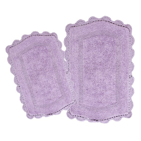 Moris Reversible 100% Cotton 2 Piece Bath Rug Set by August Grove